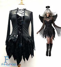 Dark Angel Devil Women Costume Sexy Lady Fancy Dress Halloween Cosplay Party
