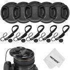 Neewer 5x 52MM Camera Lens Cap Cover Kit for NIKON D3100 D3300 D5300 DSLR Camera