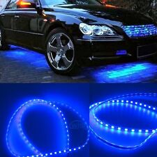 Blue Car Body Glow Neon LED Lighting Undercar Underbody Strips For Chevrolet