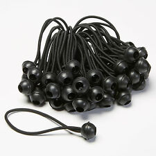 "6"" Black Ball Bungee (Bag of 100)"