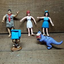 FRED FLINTSTONE AND FRIENDS~~RUBBER,BENDABLE,POSABLE~1990'sBETTY, WILMA,BAMBAM