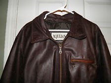 MENS   WILSON M. JULIAN  WEATHERED BOMBER BROWN  LEATHER JACKET  SIZE XL