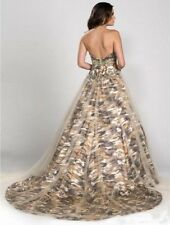 2017 Camo Wedding Dresses Formal Ball Gown Tulle Crystal Camouflage Bridal Gowns