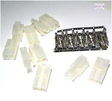 RC Modelo Cargador Cable De Metal Pin Conector Plug Grande Tamiya Dean 5 Juegos-UK Vender