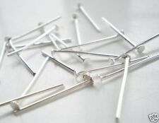 250 x 50MM THICK STRONG SILVER PLATED HEADPINS, LEAD & NICKLE FREE