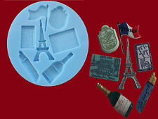 France French Paris Eiffel Tower Baguette Sugarcraft Cake silicone mould set