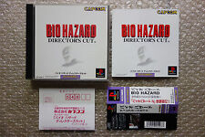 "Biohazard Director's Cut + Spine Card ""Good Condition"" Playstation PS1 Japan"