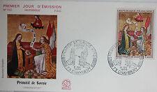 ENVELOPPE PREMIER JOUR - 9 x 16,5 cm - ANNEE 1970 - PRIMITIF DE SAVOIE - N° 722