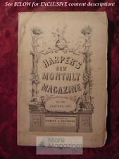 HARPER's January 1873 WILKIE COLLINS CHARLES READE BENSON JOHN LOSSING