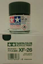 Tamiya acrylic paint XF-26 Deep green 23ml.