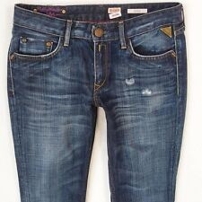 Ladies Womens Replay WV577 IOKO Straight Blue Jeans W28 L34 UK Size 8