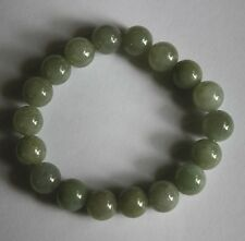 100% Natural Untreated Beautiful Oily Green Jadeite JADE Beads Bracelet #360