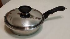 """Vintage 9"""" Cook-O-Matic Waterless 18/8 Stainless Steel Pan &Insert &Lid Used USA"""