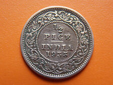 George V King Emperor 1/2 Pice India 1935 Bronze Coin