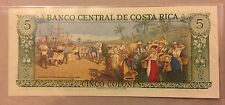 Banko Central de Costa Rica 1981 seria D, 5 colones SAN JOSE