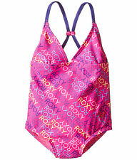 NEW* ROXY SWIMSUIT 1 PC $44 Retail GIRLS 5 Hot Pink Multicolor