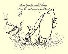 Winnie The Pooh And Piglet Sometimes Print 11 x 14  #3634
