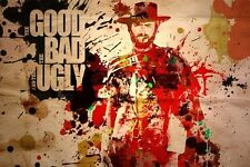 Clint Eastwood The Good The Bad and The Ugly Movie Poster Fabric 30x45cm Print