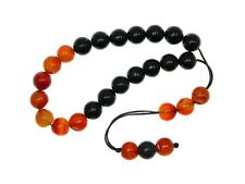 0446 10mm Mixed Agate Gemstone Loose String Greek Komboloi Prayer Worry Beads
