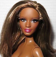 * NUDE BARBIE ~ BRUNETTE AA PAZETTE THE LOOK CITY SHINE MODEL MUSE DOLL FOR OOAK