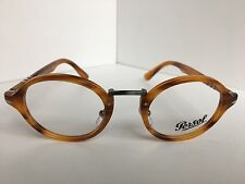 New Persol 3128-V 960 46mm Rx Round Havanna Eyeglasses Frame Hand Made in Italy