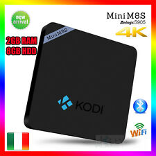 Mini M8S TV Box IPTV Android 6.0 KODI WiFi Amlogic S905 H.265 Quad Core 8GB 2GB