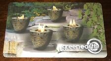 """GREEN EARTH CANADA GIFT CARD """"FIRE POTS"""" NO VALUE NEW COLLECTIBLE"""