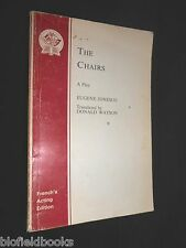 The Chairs (Acting Edition) A Play by Eugene Ionesco 1958-1st French's Acting Ed