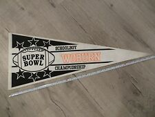 Woburn Massachusetts High School Mass MA Vintage Felt Pennant Flag Football
