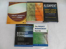 Lot of 5 BUSINESS PROJECT MANAGEMENT & EVALUATION Forms Handbook Tool Kit