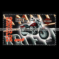 ★ HARLEY-DAVIDSON FXDF 1690 DYNA FAT BOB ★ CONGO Timbre Moto Collection #157