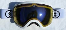 $170 Electric EG2.5 Mens Gloss White Ski Goggles smith uvex Blue Yellow Spy Lens