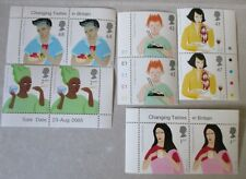 Royal Mail Commemorative Stamp Set - Changing Tastes in Britain. Mint Condition.