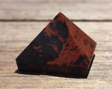 NATURAL MAHOGANY OBSIDIAN SMALL GEMSTONE PYRAMID 20-22mm