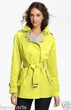 NWT $128 Gallery Two Tone Asymmetrical Trench Coat M