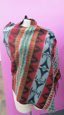 Aztec style pattern warm soft shawl wrap from India. Great Xmas gift!.