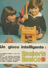 X7513 Un gioco intelligente - Maglieria Magica Mattel - Pubblicità 1977