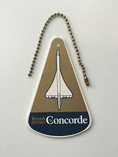 BRITISH AIRWAYS CONCORDE HARD PLASTIC LUGGAGE BAG TAG CROWN LOGO BA
