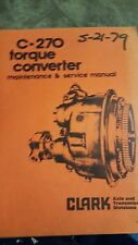 Clark Torque Converter Maintenance & Service Manual