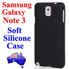 Soft Silicone Rubber Case Cover For Samsung Galaxy Note 3 III N9000/N9005(BLACK)