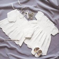 BABY'S DRESS & JACKET / birth to 9 months 3ply - baby knitting pattern