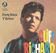 "7"" - Cliff Richard - Forty Days / Y`Arriva - Columbia C22011 - DE 1963"