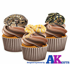 Reptile Python Snakes Birthday Party 12 Cup Cake Toppers Edible Decorations