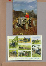 2x vintage Ad gallery cards Tractors Ferguson TE20 and fordson major range