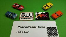 Silicone Tires for AFX Aurora Magnatrac AutoWorld Xtraction 16 piece lot .454 OD