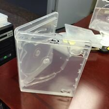 Blu Ray case clear Triple disc with clear tray 10 units New