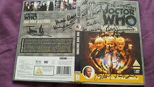 Dr Who The 5 Doctors dvd signed by 16