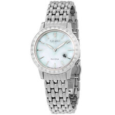 Citizen Eco-Drive Diamond MOP Dial Stainless Steel Ladies Watch EW228058D