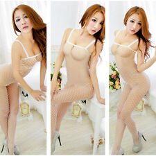 Sexy Lingerie Nightwear Babydoll Fish Net Bodysuit Stocking Womens Underwear
