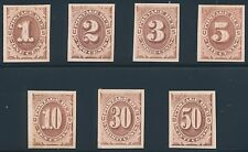#J1P4-J7P4 PLATE PROOFS ON CARD COMPLETE SET 1879 XF+ BR2914